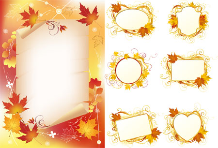 Autumn Frames - Stock Vectors