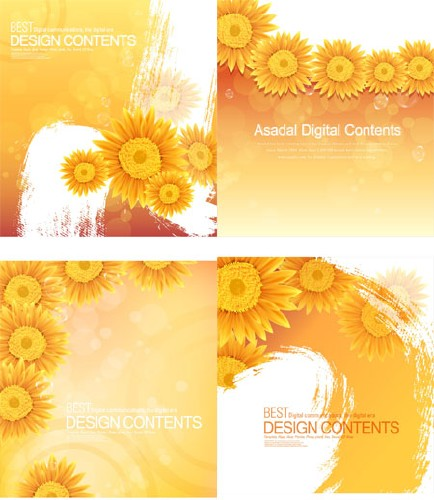 Sunflower Design - Stock Vector