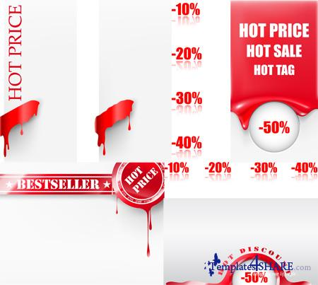 Hot Price Sale Tags - Vectors
