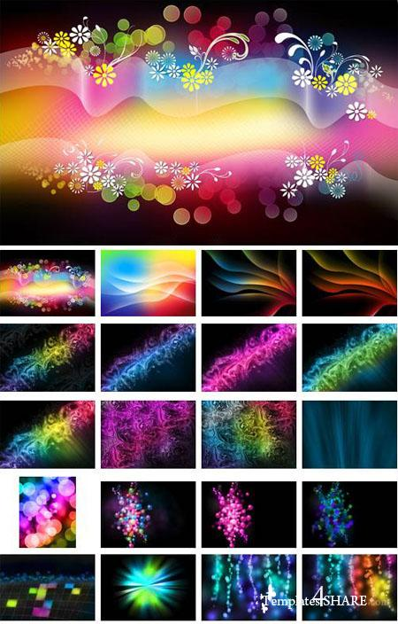 Abstact Colorful Backgrounds Mix