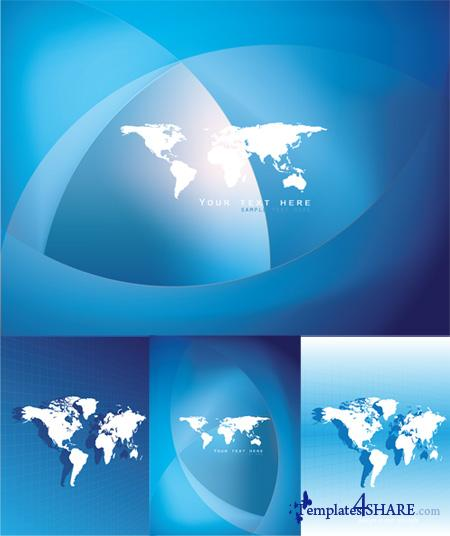 World Map Design - Vector Clipart