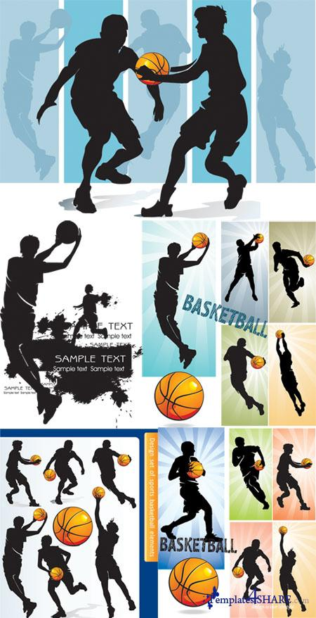 Basketball Players Vector Design