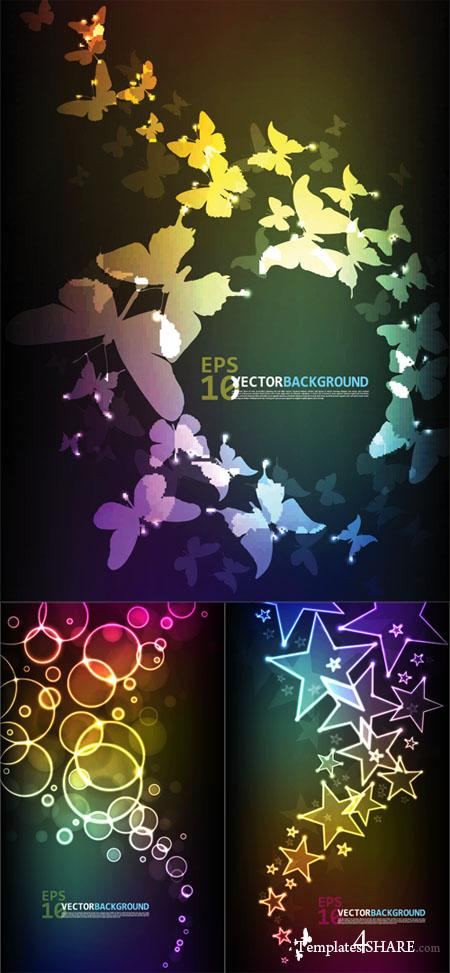 Colorful Abstract Vector Backgrounds 30