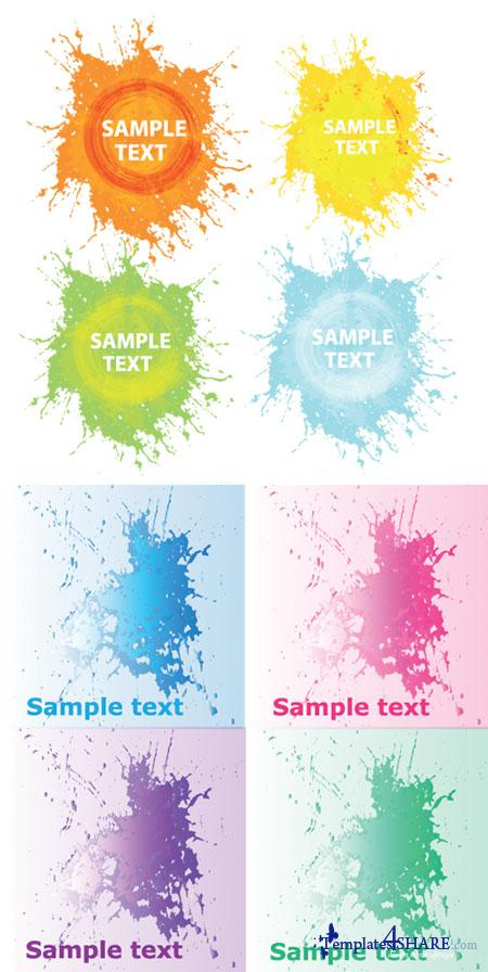Grunge Splashes Vector Backgrounds