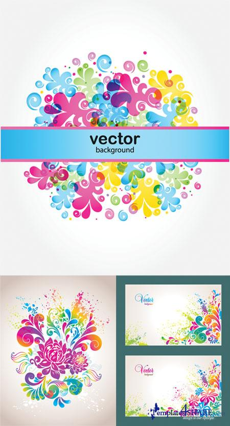 Colorful Flower Vector Backgrounds