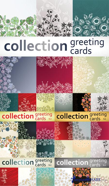 Greeting Vector Cards Collection