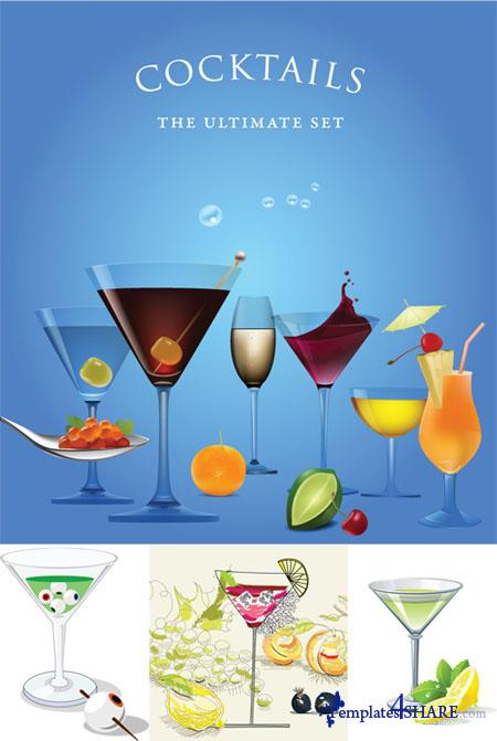 Cocktails Ultimate Vector Set