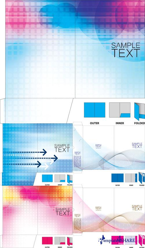 Corporate Folder Vector Template