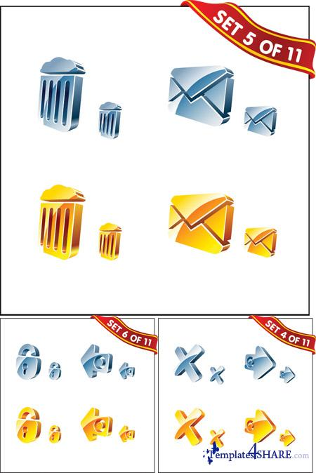 3D Vector Icons Set #2