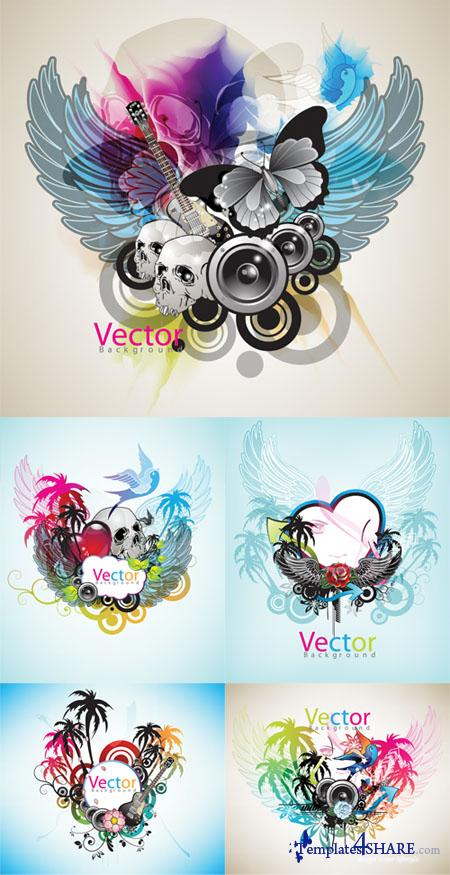 Art Grunge Vector Backgrounds