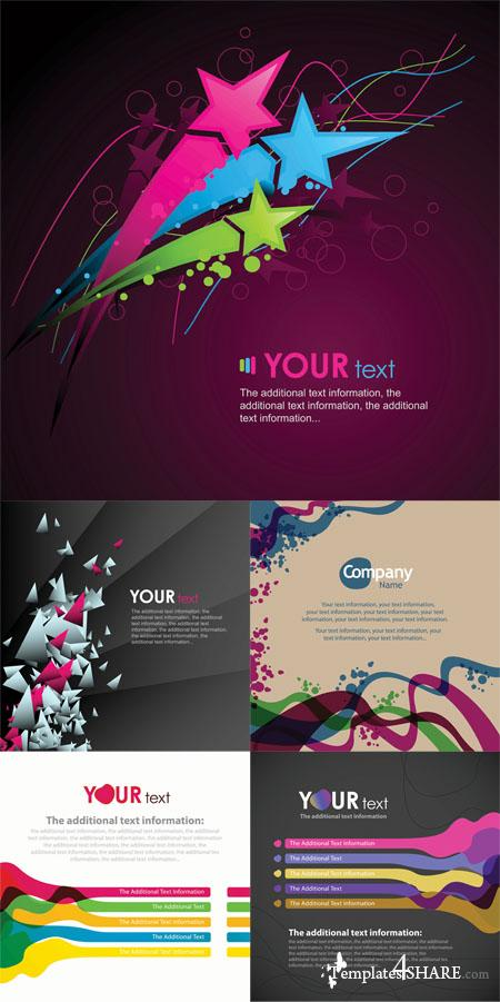Colorful Abstract Vector Backgrounds 32