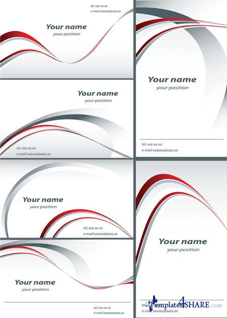 White Business Vector Cards