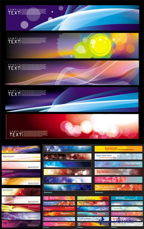 Horizontal Vector Banners Set