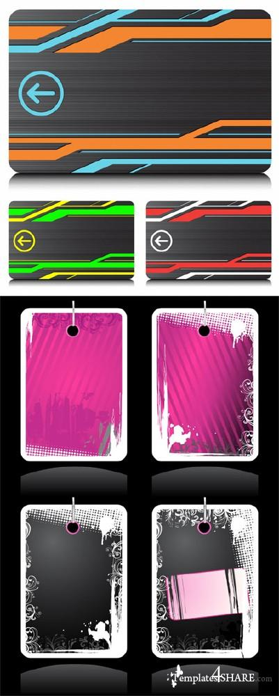 Colourful Vector Swipe Cards