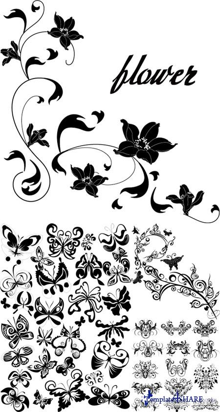 Floral Design Vector Pack