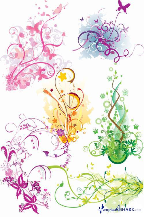 Flowery Vector Design Mix