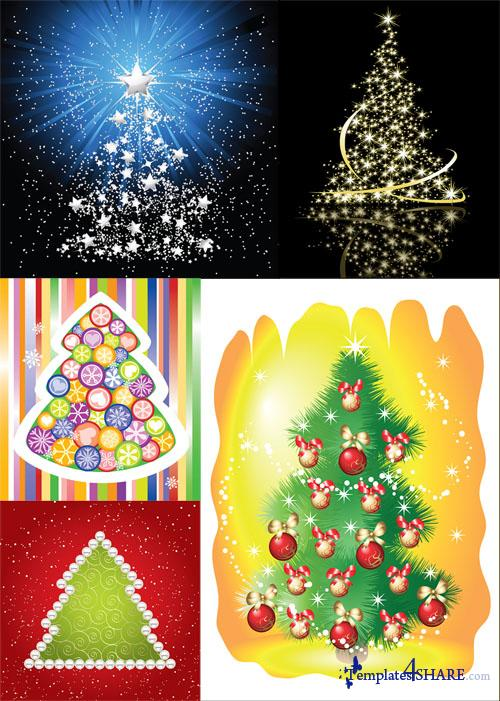 Christmas Tree Vector Mix