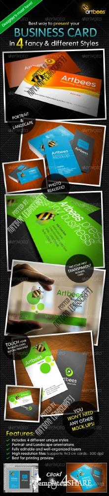 Great Business Cards 4 Styles (PSD Templates)