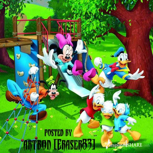 Disney Cartoon Heroes PSD Template