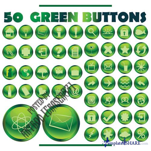 Cool Green Vector Buttons
