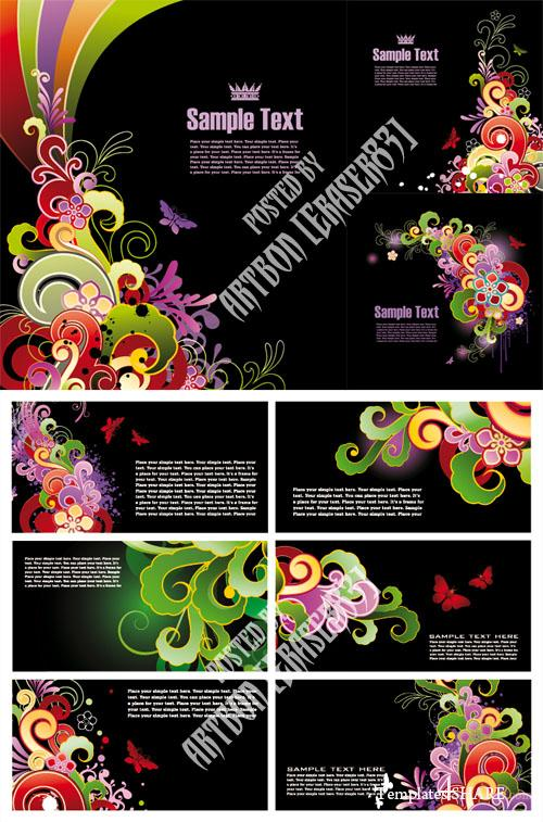 Colored Flower Vector Design