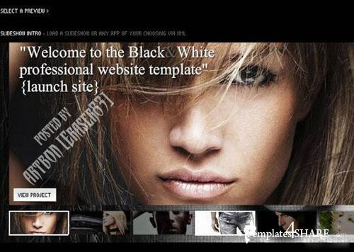 Black and White Deeplinking Flash Template