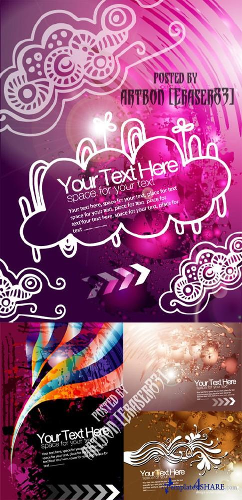 Grunge Vector Background for Text