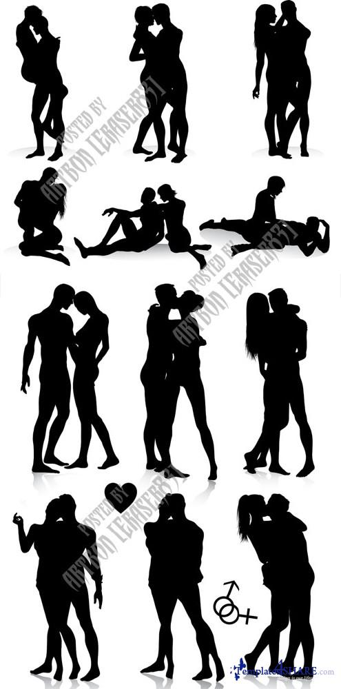 Couple Silhouettes Vector Set
