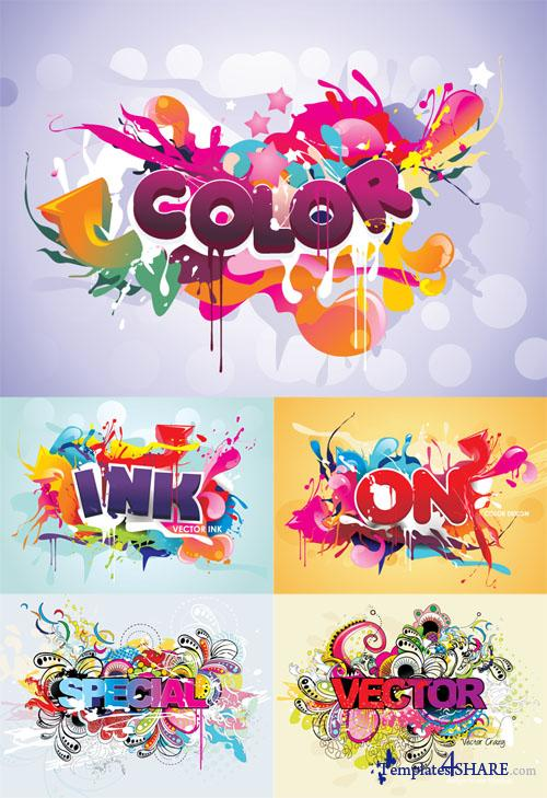 Colourful Vector Text