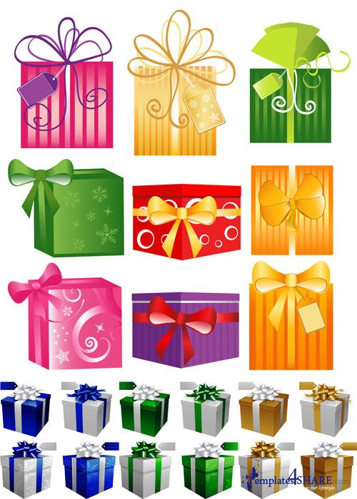 Christmas Gift Vector Boxes
