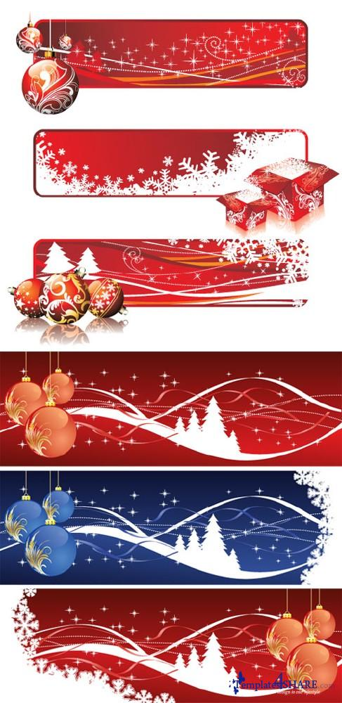 Christmas Banners - Vector Clipart