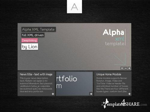ActiveDen Alpha XML Website Template
