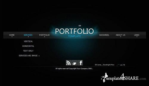ActiveDen Dark Portfolio - Flash Template