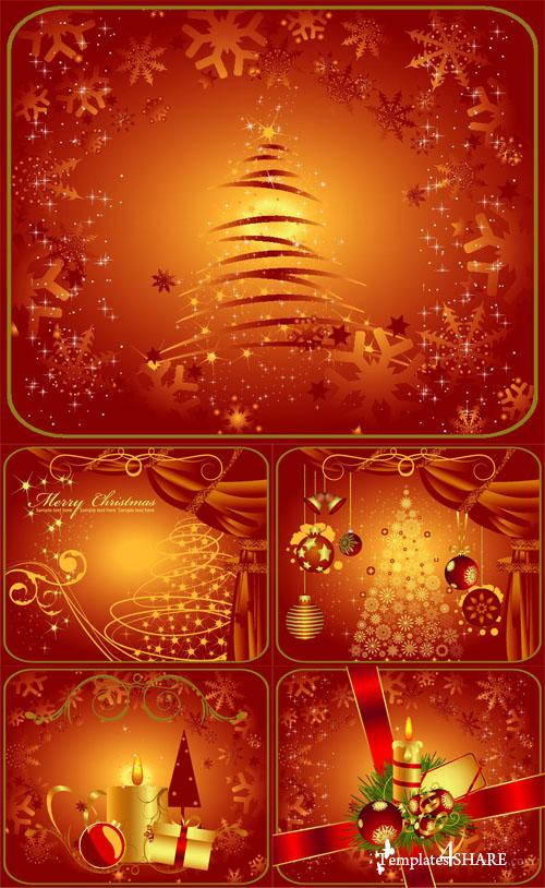 Christmas Vector Background 4