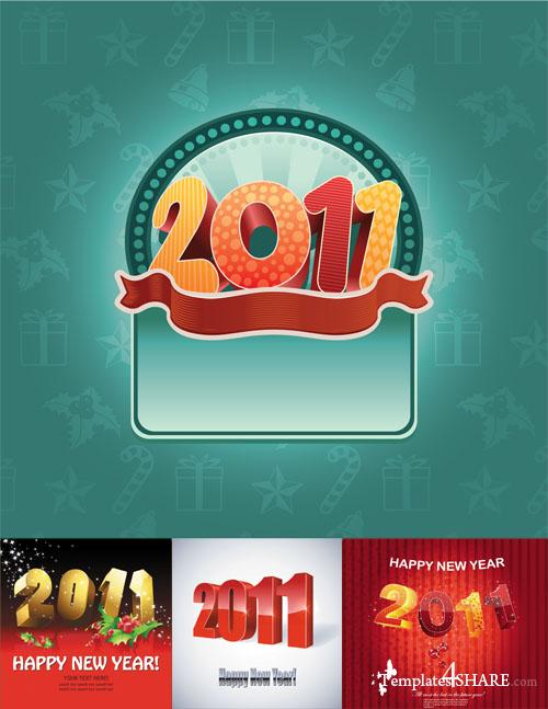Happy New Year 2011 Vectors