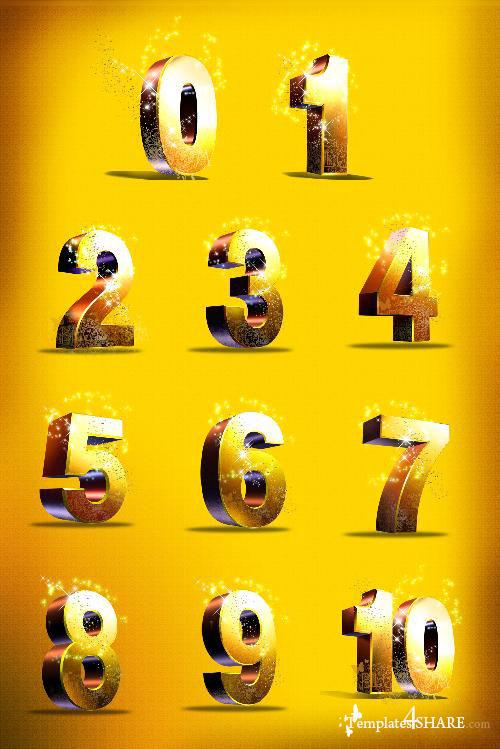 Golden Numbers PSD Template