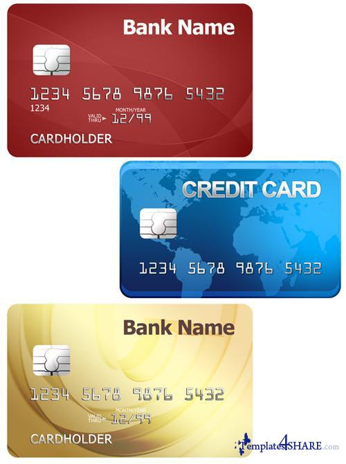 Credit Cards PSD Template