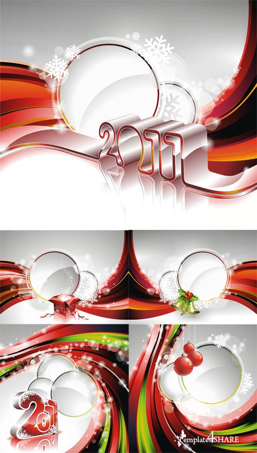 Christmas Vector Backgrounds 3