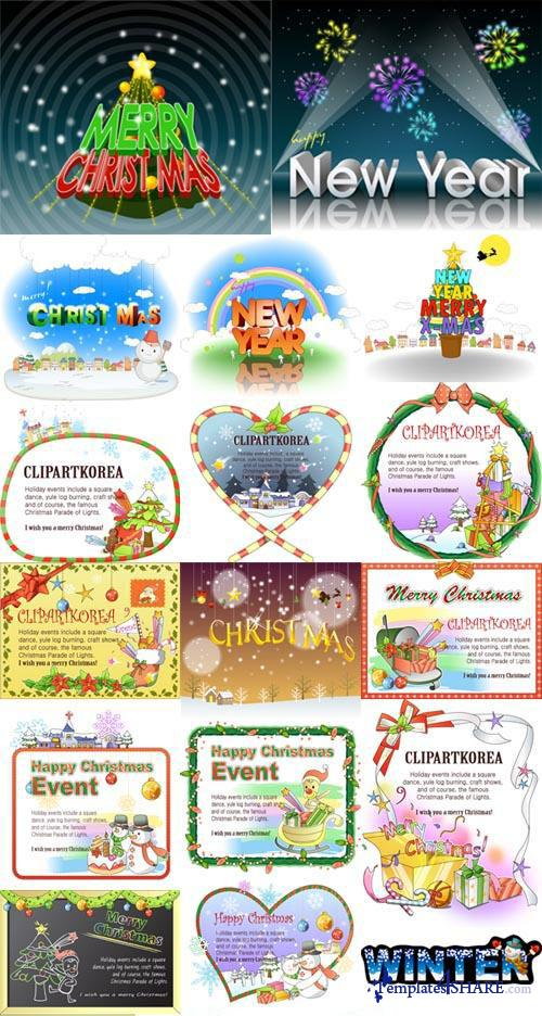 Christmas and New Year Vector Design