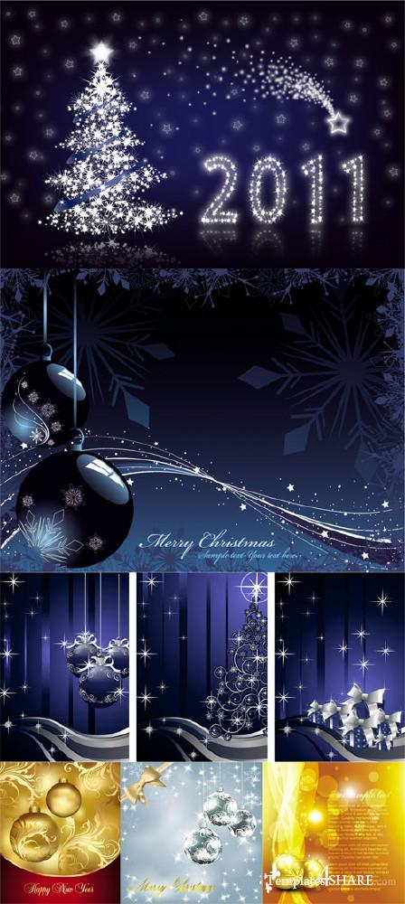 Christmas Vector Backgrounds 2