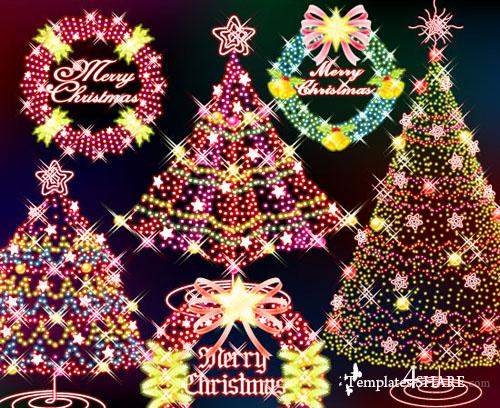 Christmas Glowing Vector Design