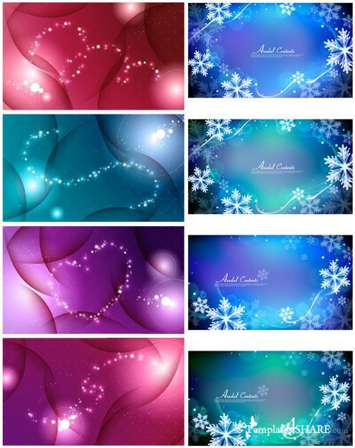 Asadal Winter Vector Backgrounds