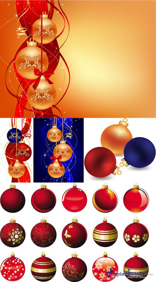 Christmas Balls 4 - Vector Clipart