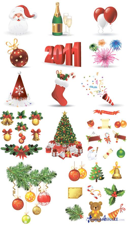 Christmas Elements Vector Pack