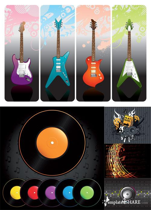 Music Set - Vector Clipart