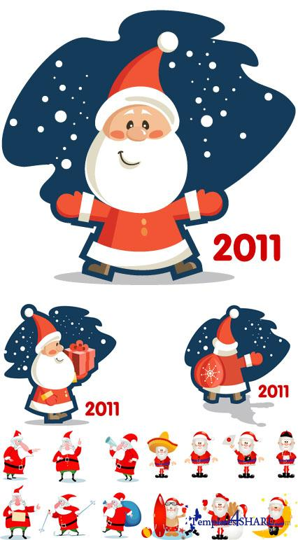 Vector Cartoon Christmas Santa