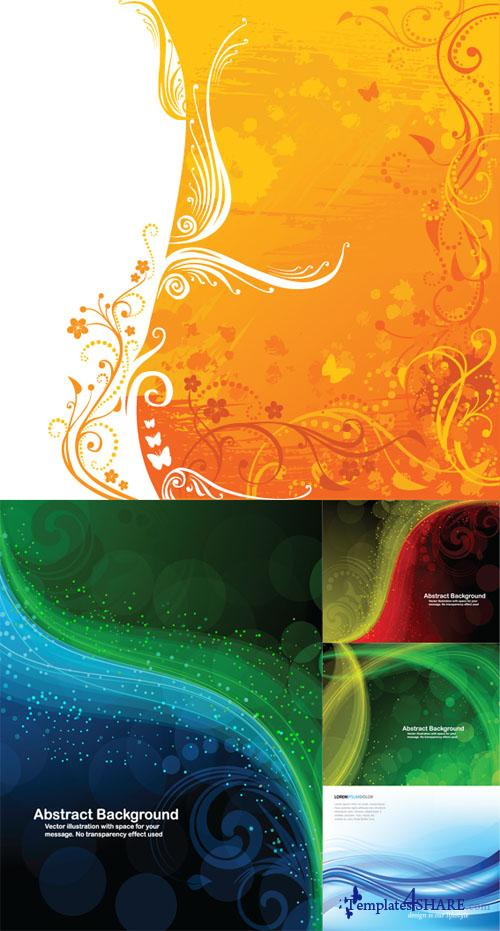 Colorful Abstract Vector Backgrounds 36