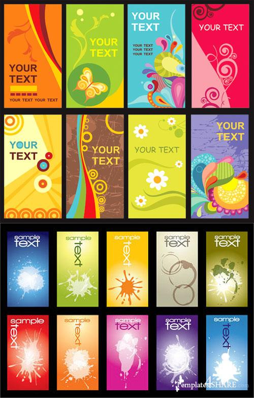 Coloful Vector Cards