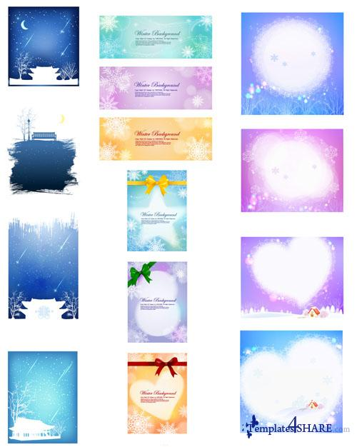 Winter Backgrounds - Vector Clipart