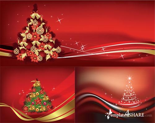 Christmas Tree Vector Mix 5